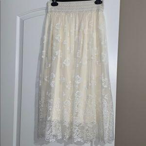 Almost ankle length boho skirt